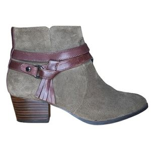 Alex Marie leather and suede ankle boots